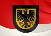 Flag of Dortmund, Germany.  — Stockfoto