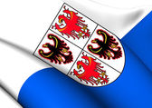 Flag of Trentino-Alto Adige, Italy.  — Stock Photo