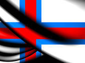 Flag of Faroe Islands — Stock Photo