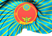 Flag of Astana, Kazakhstan.  — Stock Photo