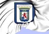 レオン ニカラグアの旗flagga leon, nicaragua. — ストック写真