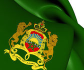 Royal Standard of Morocco — Stock Photo