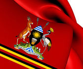 Presidential Standard of Uganda — Stock Photo