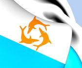 Flag of Anguilla (1967-1969) — Stock Photo