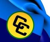 Flag of Caribbean Community  — Stock Photo
