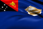 Flag of West New Britain Province, Papua New Guinea.  — Stock Photo