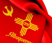 Flag of Albuquerque, USA.  — Stock Photo