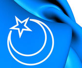 Flag of Second East Turkestan Republic — Stockfoto