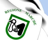 Flagge der marche, italien. — Stockfoto