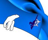 Flag of Franco-Tenois — Foto Stock