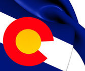 Flag of Colorado, USA. — 图库照片