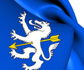Flag of Wolfenschiessen, Switzerland.  — Stock Photo