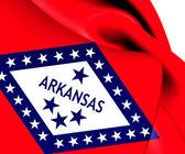 Flag of Arkansas, USA. — Stock Photo