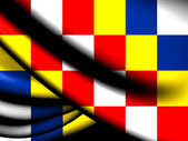 Flag of Antwerp Province, Belgium.  — Stock Photo