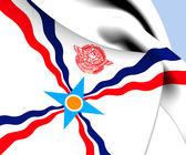Bandeira da assíria — Foto Stock