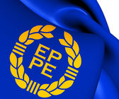 Flag of European Parliament (1973-1983) — Stock Photo