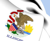 Flag of Illinois, USA.  — Stok fotoğraf