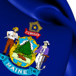 Flag of Maine, USA. — Stock Photo #49720215
