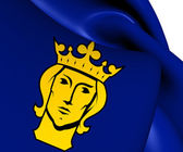 Flag of Stockholm, Sweden.  — Stock Photo