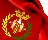 Flag of Lleida City, Spain.  — Stock Photo
