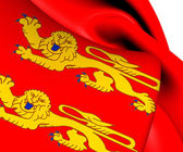Flag of Lower Normandy, France.  — Stock Photo