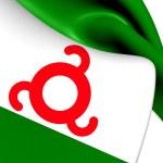 Flag of Ingushetia, Russia. — Stock Photo