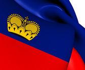 Flag of Liechtenstein — Stock Photo
