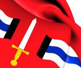 Flag of Reimerswall, Netherlands.  — Stock Photo