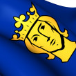 Flag of Stockholm, Sweden. — Stock Photo #50997741