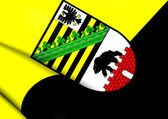Flag of Saxony-Anhalt, Germany.  — Stock Photo