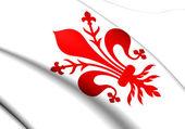Flagge von florenz, italien. — Stockfoto