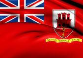 Civil Ensign of Gibraltar — Stock Photo