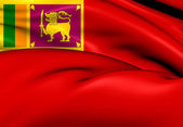 Civil Ensign of Sri Lanka — Stock Photo