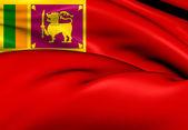 Civil Ensign of Sri Lanka — Stock Photo