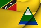 Flag of Nevis — Stock Photo