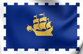 Bandera de la ciudad de quebec, canadá. — Foto de Stock