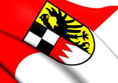 Flag of Middle Franconia, Germany.  — Stock Photo