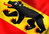 Flag of Bern Canton, Switzerland. — Stock Photo