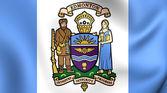 Flag of Edmonton, Canada.  — Stock Photo