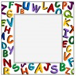 Stock Vector: Alphabet Frame on the white background