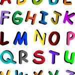 Multicolor alphabet — Stock Vector