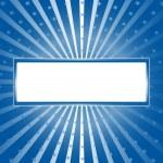 Санберст голубой фон со звездами — Cтоковый вектор
