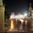 Kremlin and temple on Red square in Moscow - Stock Photo