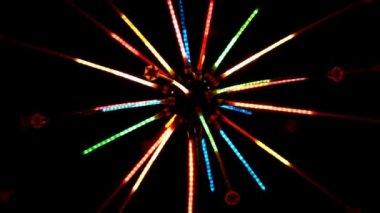 闪烁灯光的花环 — 图库视频影像