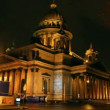 Stock Video: Isaakiy cathedral dome at night, Saint-petersburg, Russia