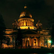 Isaakiy cathedral dome at night, Saint-petersburg, Russia — Видео