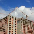 Stock Video: Working construction cranes - slow motion