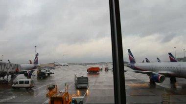 机场机场尕-从终端视图 — 图库视频影像