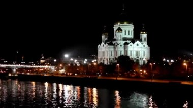 Cristo el salvador catedral en moscú - timelapse — Vídeo de stock