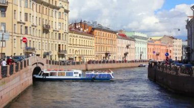 Moika River in St. Petersburg — Stock Video